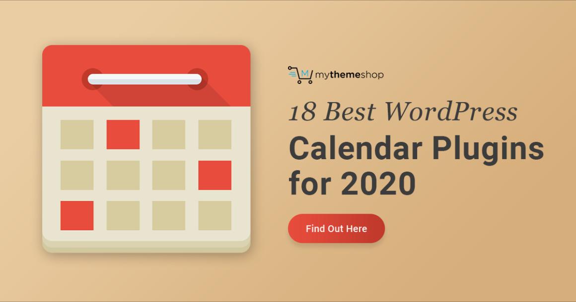 18 Best Event Calendar Plugins for WordPress 2020 - MyThemeShop