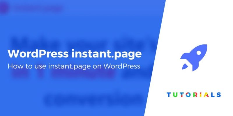 How to Use Instant Page on WordPress to Preload Content
