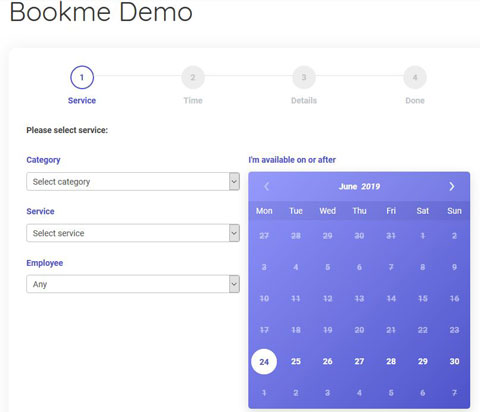 Bookme Pro Appointment Booking Plugin - WP Solver