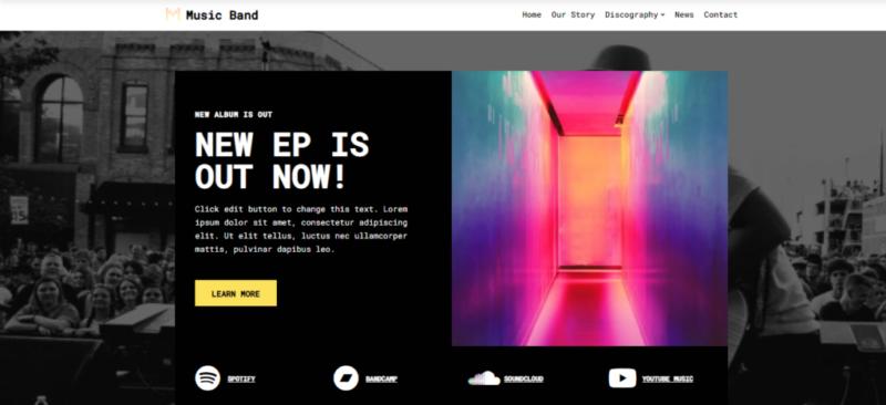 Neve music WordPress themes
