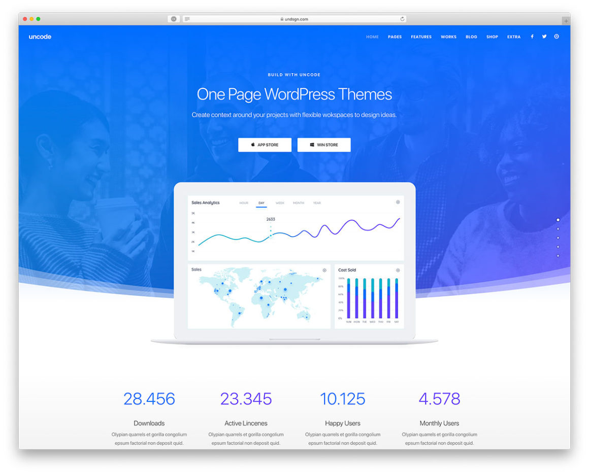 43 One Page WordPress Themes For Portfolio, Corporate, Agency & Other Awesome Websites 2021